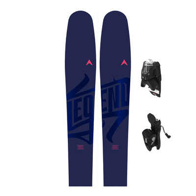 LEGEND W96 - Esquís freeride/all mountain mujer + fijaciones NX 12 GW B100 black
