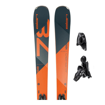 AMPHIBIO 78 TI PS - Skis all mountain orange/blue + Fixations EL 10.0