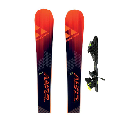 RC4 THE CURV GT RT - Skis race Homme + Fixations MBS 13 RC4 PR B85 solid black/yellow