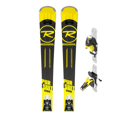 PURSUIT 800 TI - Skis piste Homme + Fixations SPX 12 KONECT GW B80 black/yellow