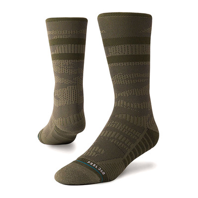 TRAINING UNCOMMON SOLIDS - Calcetines hombre olive