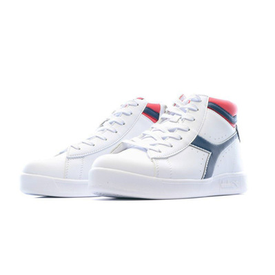 GAME P HIGH GS - Chaussures Junior white/red/black