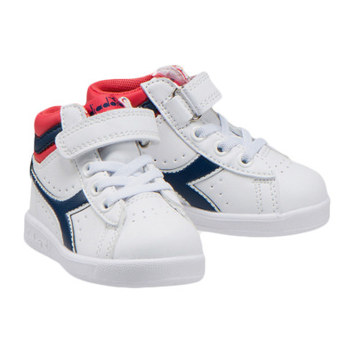 GAME P HIGH TD - Chaussures Junior white/blue/red