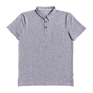 QUIKSILVER - SUN CRUISE STRETCH - Polo Homme dark grey heather
