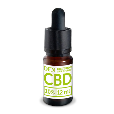 Diet Food CBD OIL 10% - Flacon d'huile de graine de chanvre 12ml