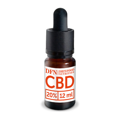 Diet Food CBD OIL 20% - Flacon d'huile de graine de chanvre 12ml
