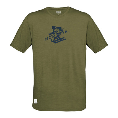 NORRONA - svalbard wool T-Shirt (M) Olive DrabHomme