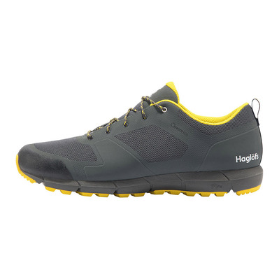 HAGLOFS - L.I.M LOW PROOF ECO - Zapatillas de senderismo hombre magnetite/signal yellow