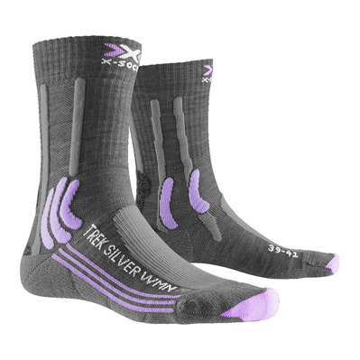 X-SOCKS - TREK SILVER - Socken - Frauen - grey/lavender