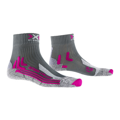X-SOCKS - TREK OUTDOOR LOW CUT - Chaussettes Femme anthracite/fushia