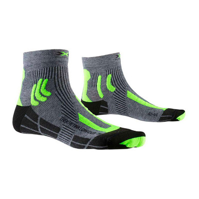 X-SOCKS - TREK RETINA LOW - Calcetines gris/amarillo