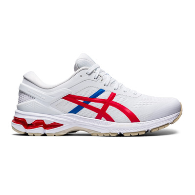 ASICS - GEL-KAYANO 26 Homme WHITE/CLASSIC RED
