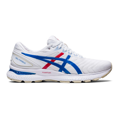 ASICS - GEL-NIMBUS 22 Homme WHITE/ELECTRIC BLUE