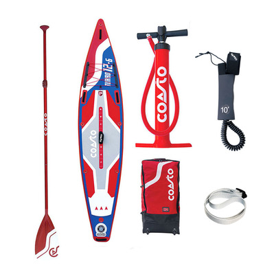 "TURBO 12'6"" - Stand up paddle gonflable blue/red + accessoires"