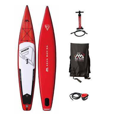 RACE 14'0 - Stand up paddle gonflable + accessoires rouge