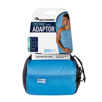 SEA TO SUMMIT - DRAP DE SAC COOLMAX ADAPTOR STANDARD / Adaptor - Coolmax® Mummy Liner Unisexe Blue