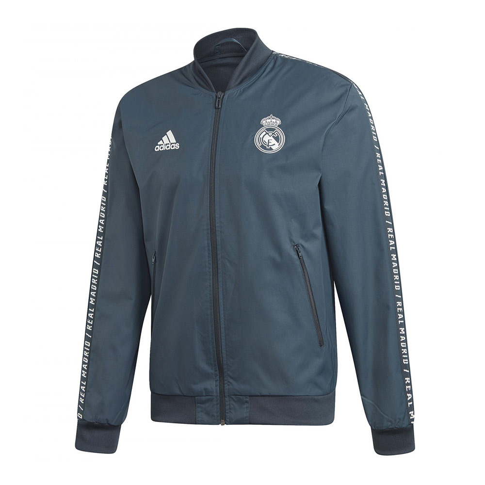 Tomar conciencia Inmoralidad Lengua macarrónica  NIKE / ADIDAS Adidas REAL MADRID ANTHEM 18/19 - Jacket - Men's - grey -  Private Sport Shop