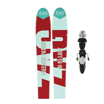 Zag H95 17/18 - Skis all mountain Femme + Fixations RX12 B95 matt white