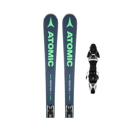 REDSTER C5 EZY3 - Skis piste grey/blue/green + Fixations E FT 11 GW B80 black/white