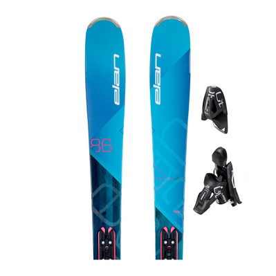 RIPSTICK 86 W RNT PS - Esquís all mountain mujer blue/purple + Fijaciones EL 10 GW SHIFT B90 solid black/black