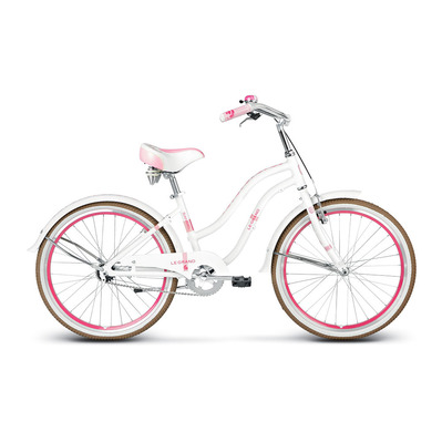 "SANIBEL 24"" - Cruiser Junior white/pink glossy"
