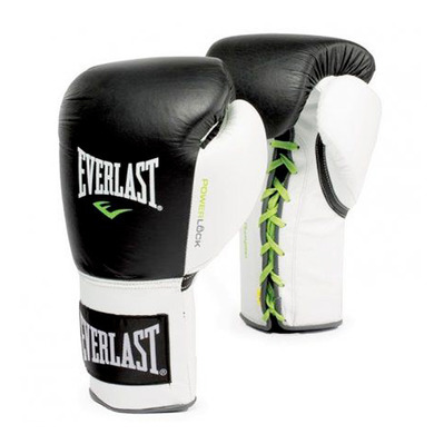 POWERLOCK FIGHT LACE - Guantes de boxeo black/white