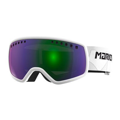 16:9 - Masque ski white/green plasma mirror