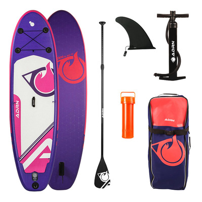 "CARVER 9'0"" - Stand up paddle gonflable violet/blanc/rose + accessoires"