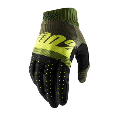 RIDEFIT - Gants green/lime/fatigue