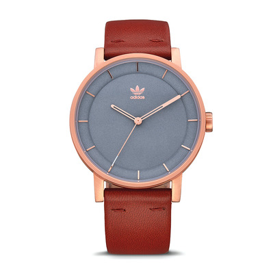 DISTRICT L1 - Montre quartz Homme rose gold/slate/saddle