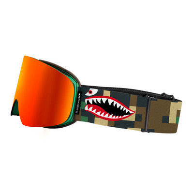 ENCORE CAMO - Masque de ski matte green - orange