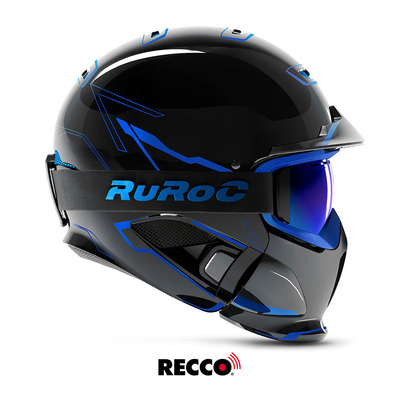 RG1-DX CHAOS ICE - Casque complet gloss black/blue