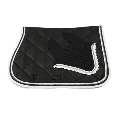 Wagner SADDLEPAD SET - Tapis de dressage + bonnet black/white