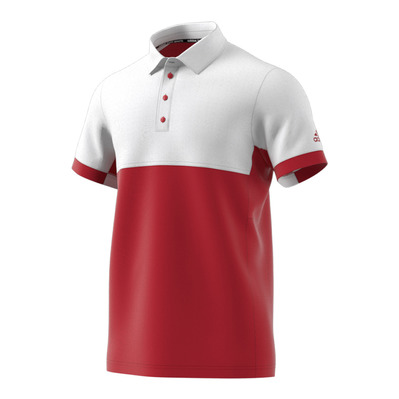 T16 CC - Polo hombre power red/white