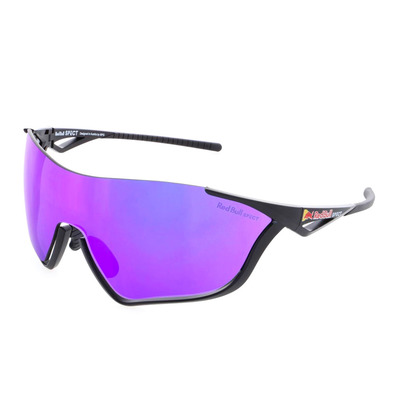 RED BULL - FLOW - Gafas de sol black/grey purple mirror + Lentes suplementarias