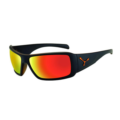 CEBE - UTOPY - Lunettes de soleil matt black/orange/zone grey red