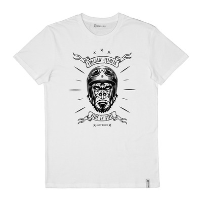 EXKLUSIV - MONKEY - T-Shirt - Men's - white