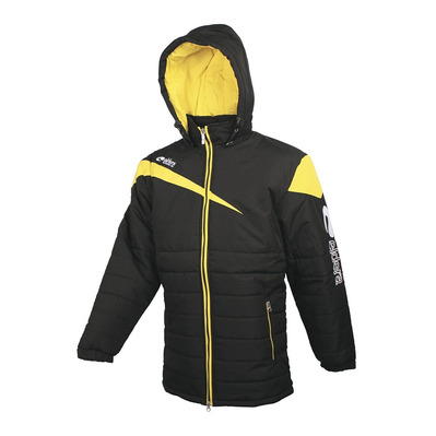 ELDERA - VICTOIRE - Down Jacket - black/yellow