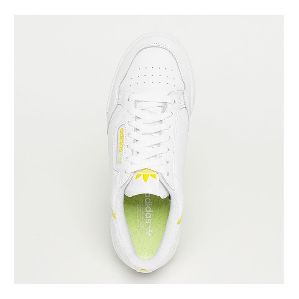 importar su visual  ZAPATILLAS ADIDAS Adidas CONTINENTAL 80 - Zapatillas mujer blanco/amarillo  - Private Sport Shop
