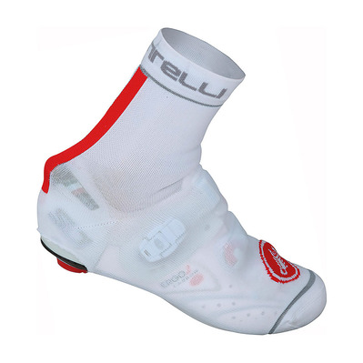 CASTELLI - BELGIAN 4 - Overshoes - Men's - white/red