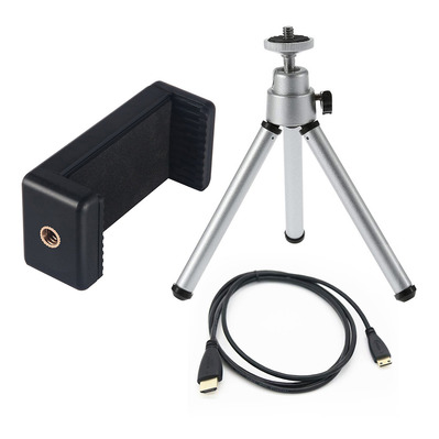 LENSO - CUB - Tripod + Adapter + Cable - black/grey