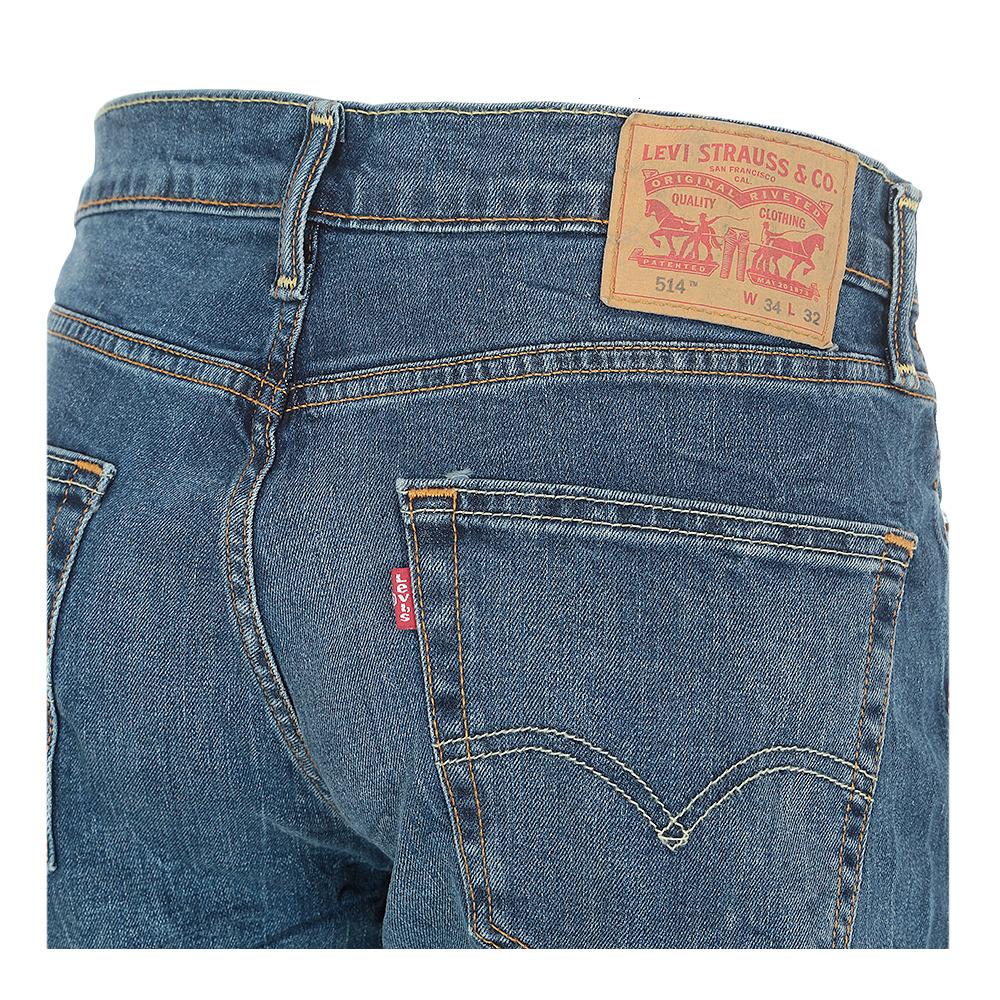 Levi S Levi S 514 Straight 04514 0387 Jeans Men S Faded Blue Private Sport Shop