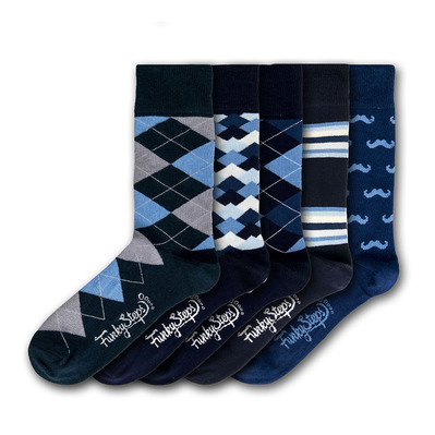 FUNKY STEPS - FSA396 - Socks x5 Men's - mixed