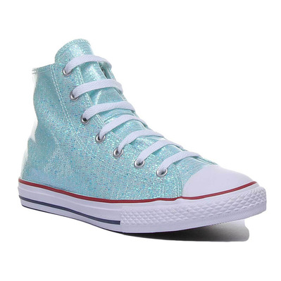 CONVERSE - CHUCK TAYLOR ALL STAR SPARKLE HIGH TOP - Shoes - Junior - teal tint/enamel red/white grade B