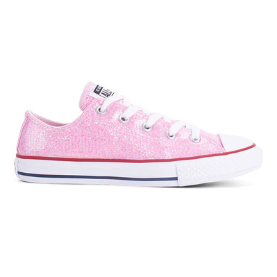 CONVERSE - CHUCK TAYLOR ALL STAR SPARKLE LOW TOP - Shoes - Junior - pink foam/enamel red/white grade B