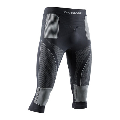 X-BIONIC - ENERGY ACCUM P 3/4 M - 3/4 Leggings - Men's - charcoal/pearl grey