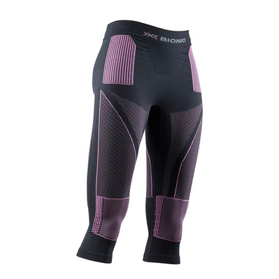 X-BIONIC - ENERGY ACCUM - 3/4 Leggings - Women's - charcoal/magnolia