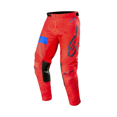 alpinestars - RACER TECH ATOMIC - Pants - Men's - red/dark navy blue