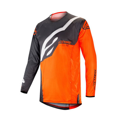 alpinestars - TECHSTAR FACTORY - Jersey - Men's - anthracite/orange fluo