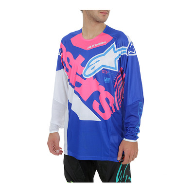 alpinestars - TECHSTAR VENOM - Jersey - Men's - blue/pink/white